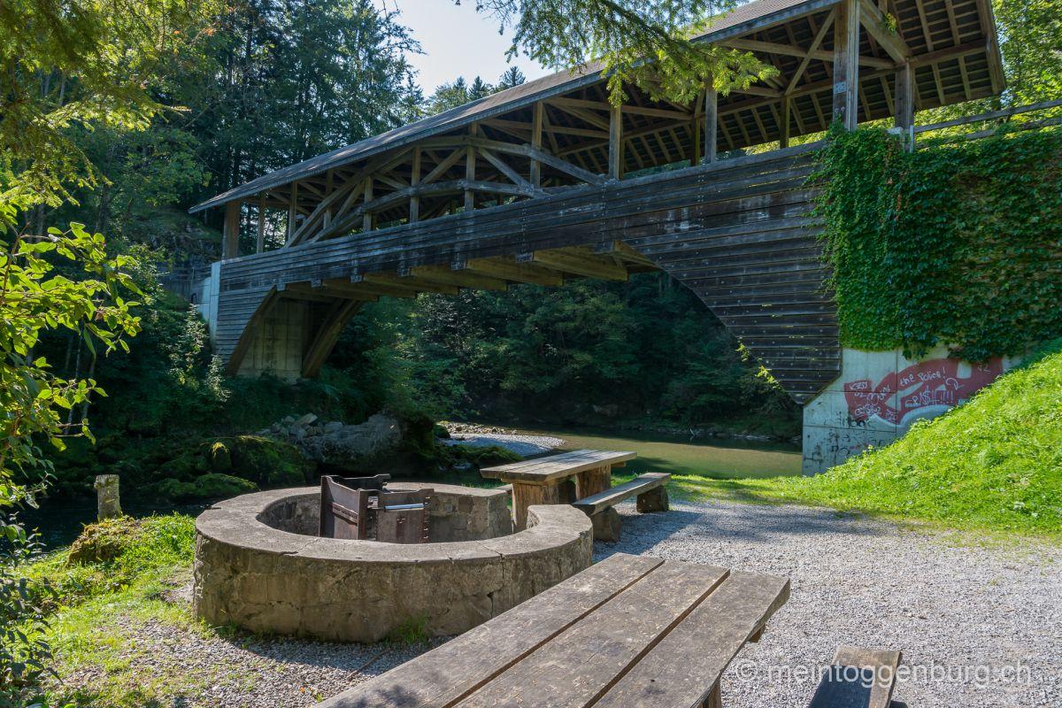 Grillplatz Feuerstelle Toggenburg Brandholzbrücke Ebnat-Kappel
