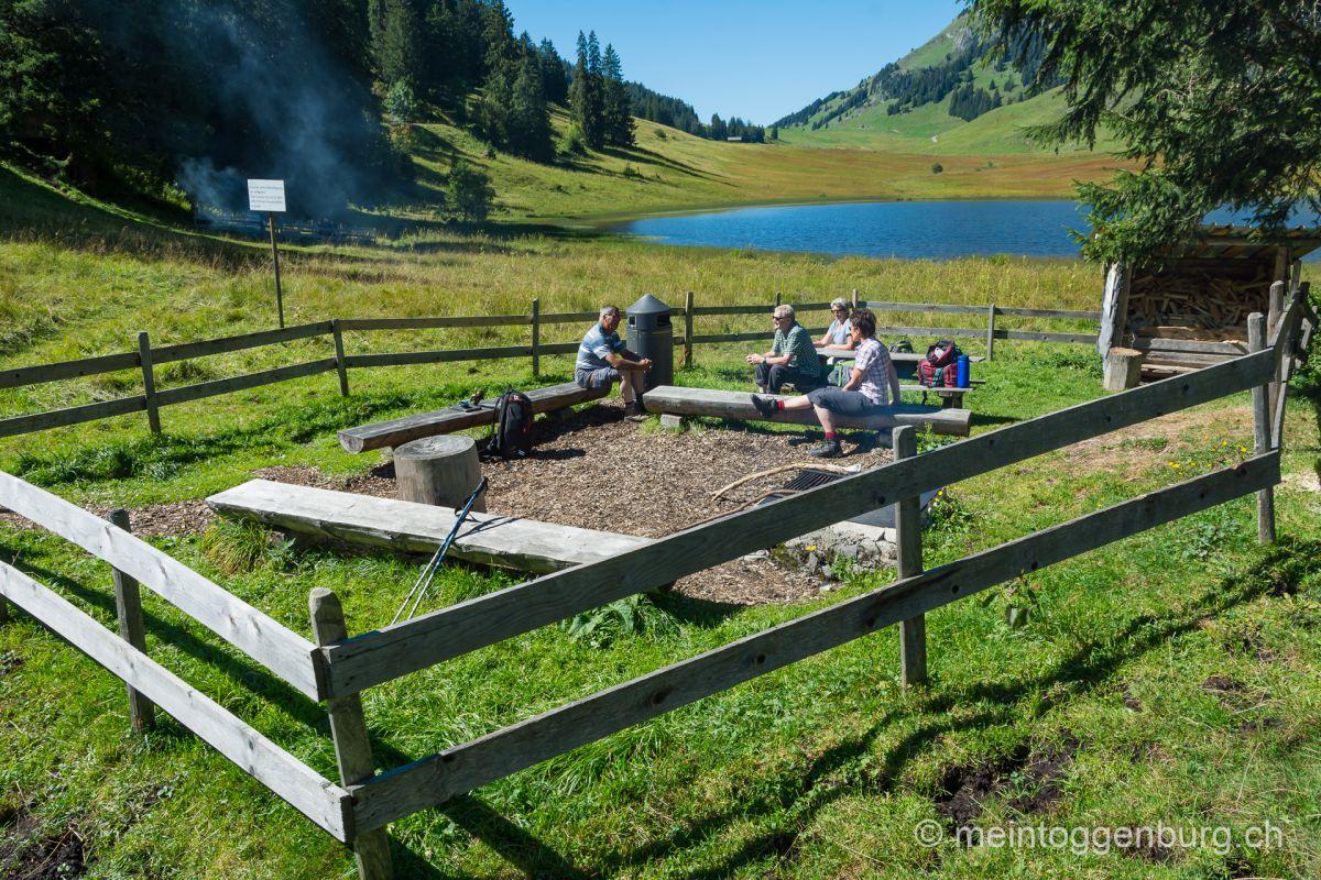 Grillplatz Feuerstelle Toggenburg Gräppelensee
