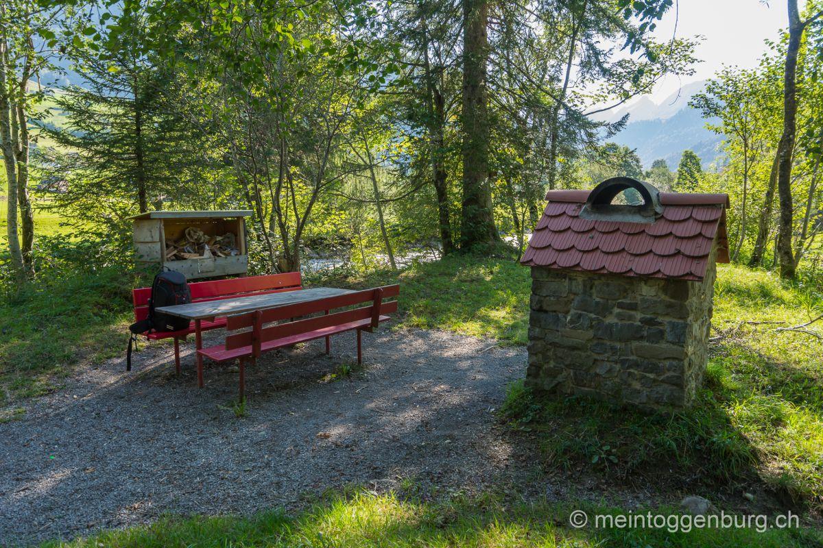 Grillplatz Feuerstelle Toggenburg Inseli Stein