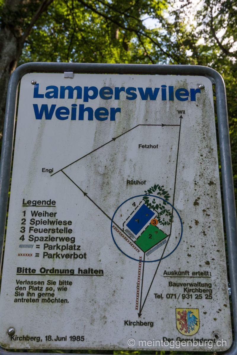 Feuerstelle Lamperswiler Weiher Kirchberg Toggenburg