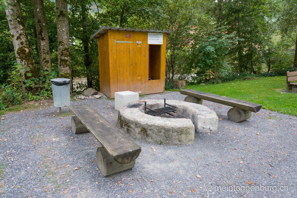 Grillplatz Feuerstelle Pärkli Brunnadern Toggenburg