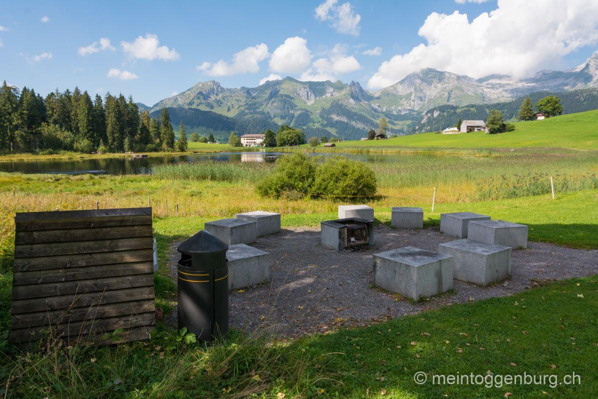 Feuerstelle Schwendisee Wildhaus Toggenburg