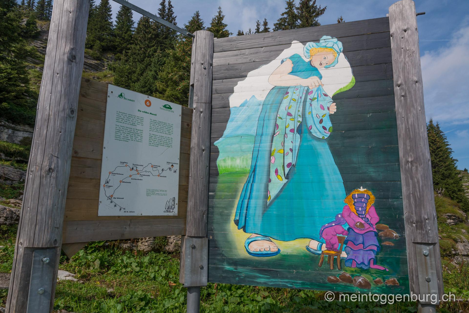 Toggenburger Sagenweg - Die wilden Mannli