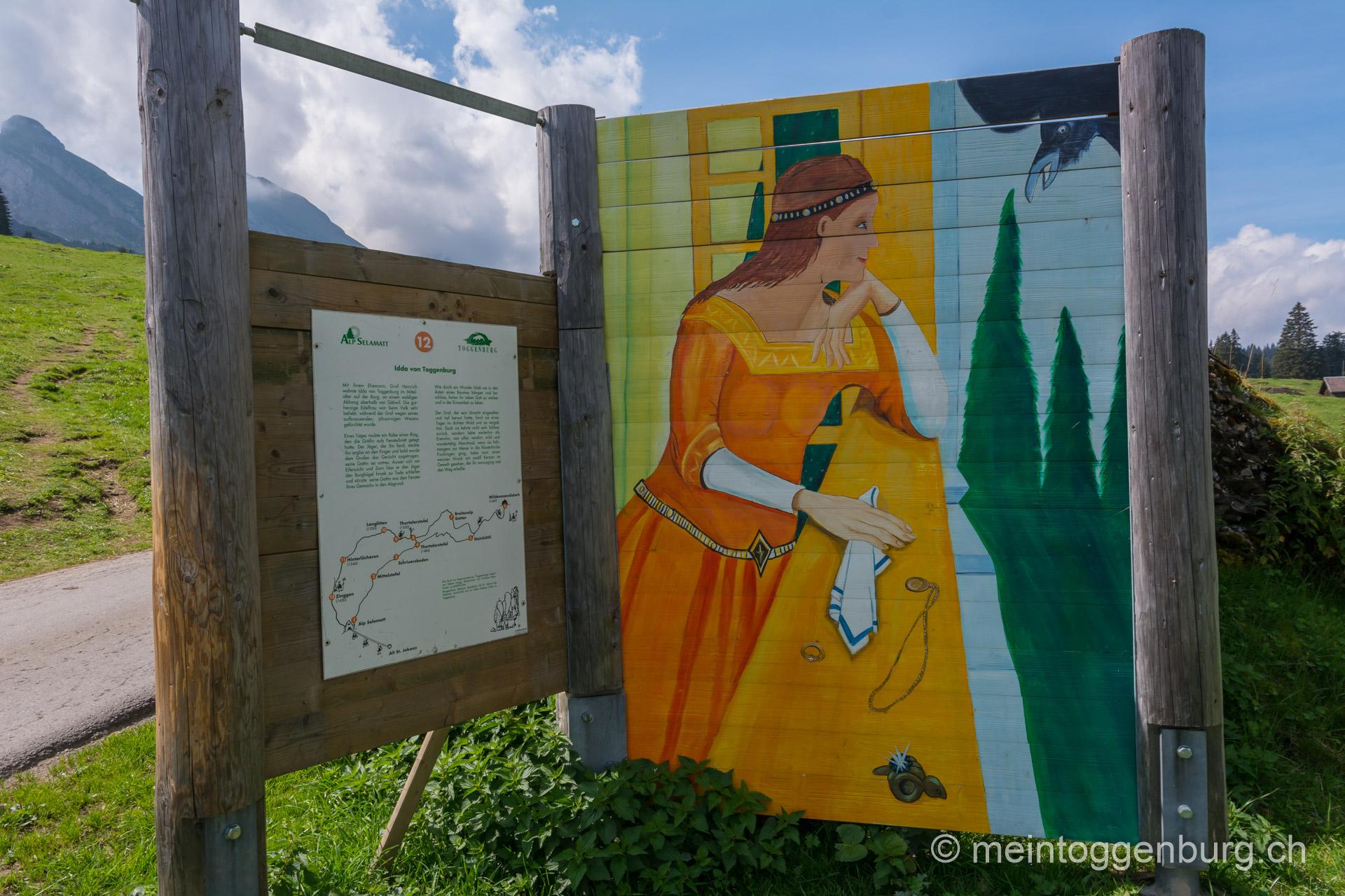 Toggenburger Sagenweg - Idda von Toggenburg