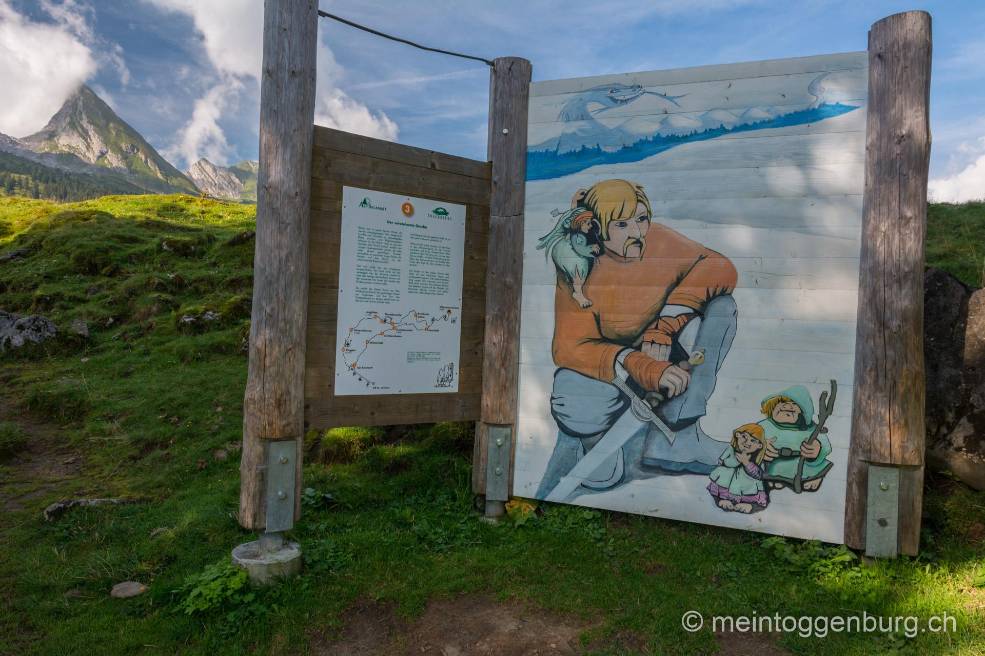 Toggenburger Sagenweg - Der versteinerte Drache