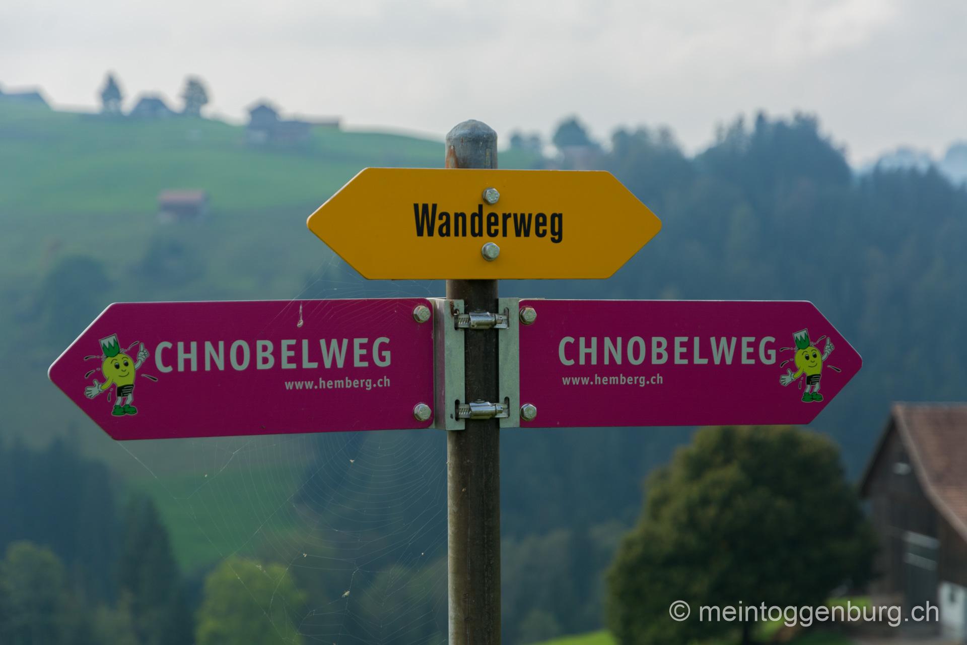 Chnobelweg Bächli Hemberg