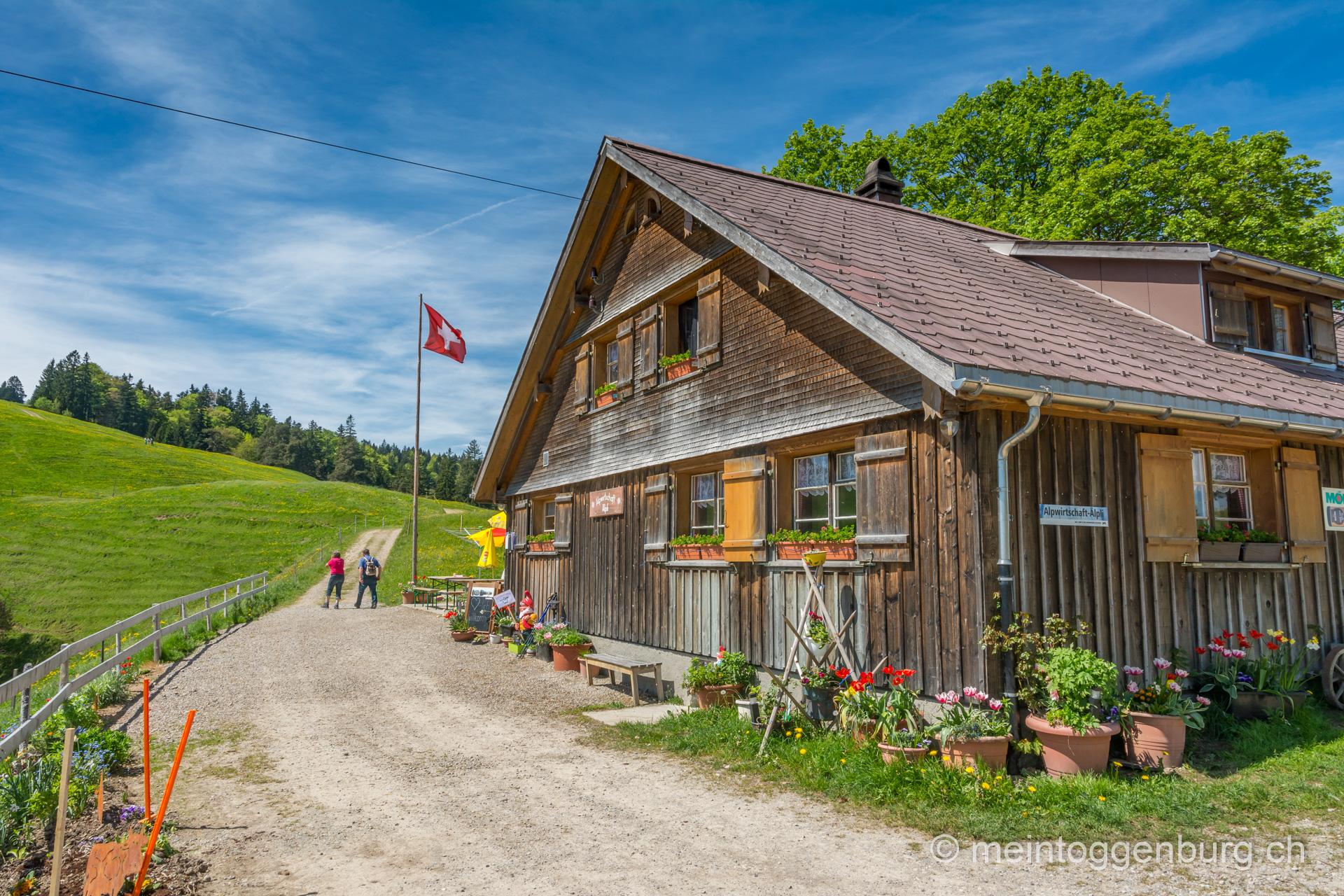 Wanderung Libingen - Chrüzegg - Atzmänig: Alpwirtschaft Älpli