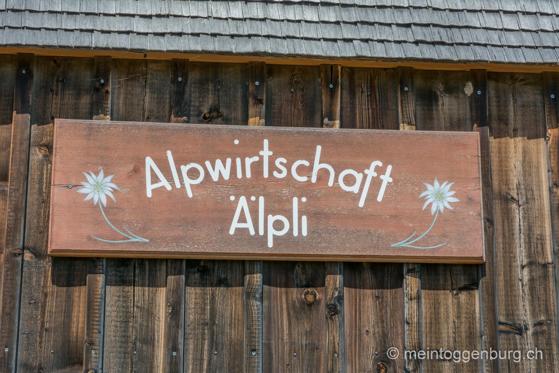 Wanderung Libingen - Chrüzegg - Atzmänig Alpwirtschaft Älpli
