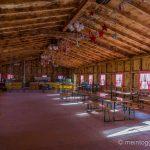 Raclette-Hütte im Adventskranz Mosnang
