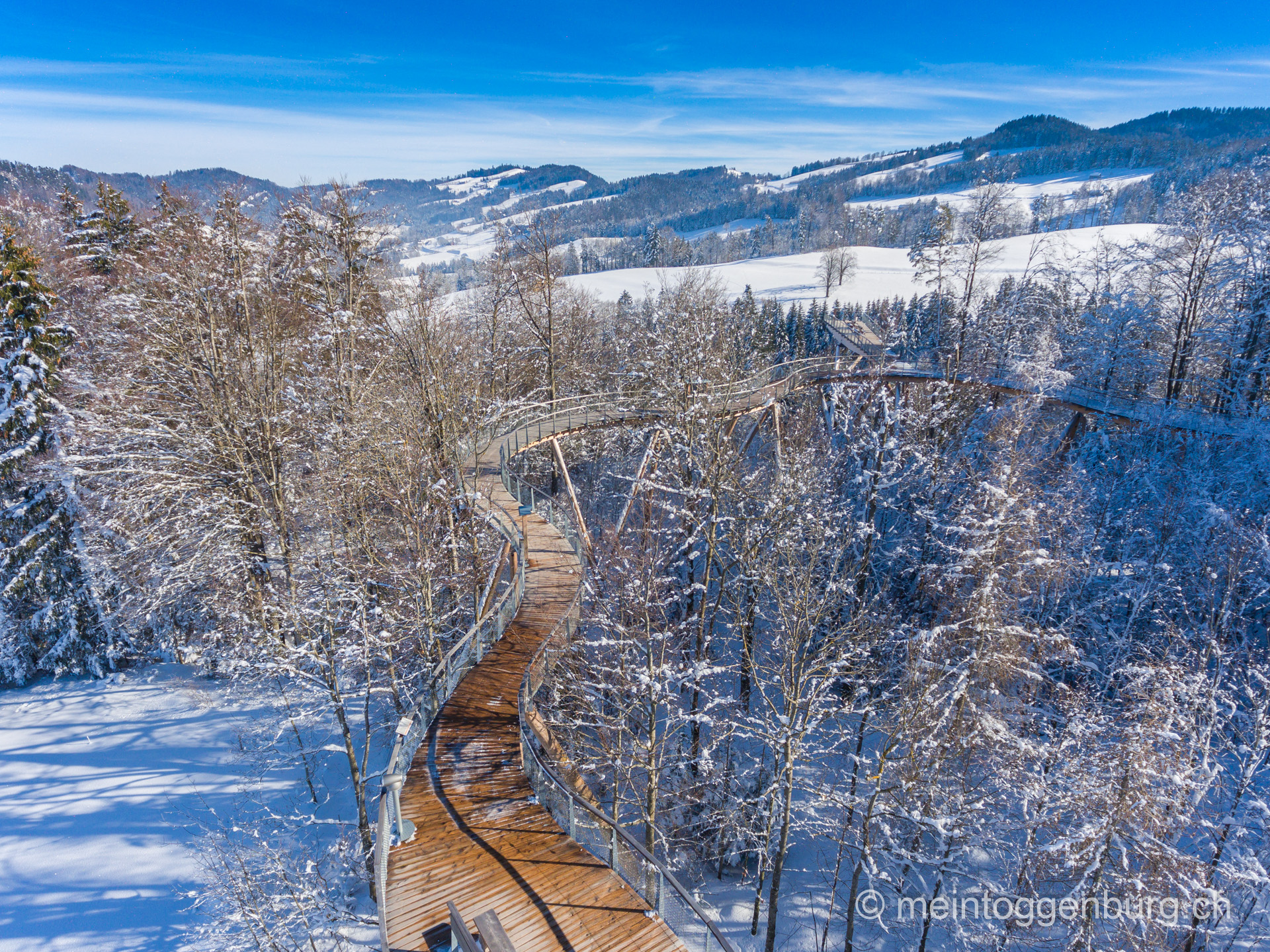 Baumwipfelpfad Neckertal im Winter